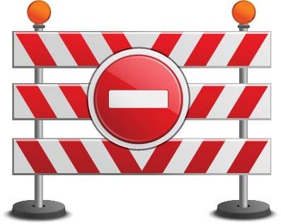barrière et stop